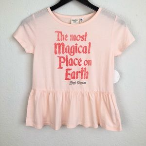 Girls Disney Pink Tee Most Magical Place on Earth